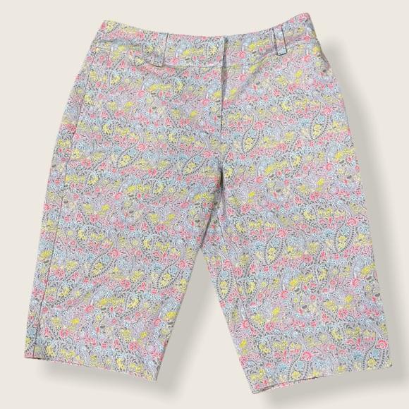 Nike Golf Bermuda Purple Floral Shorts